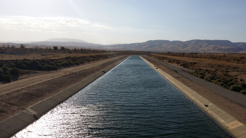 East branch, California Aqueduct, north of Centennial site