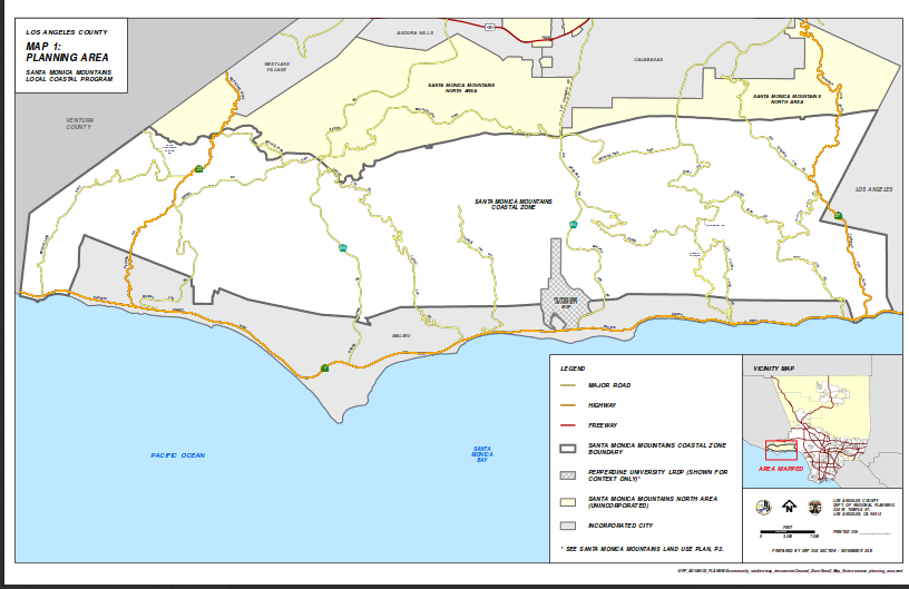 Santa Monica Mtns planning area map from LA County