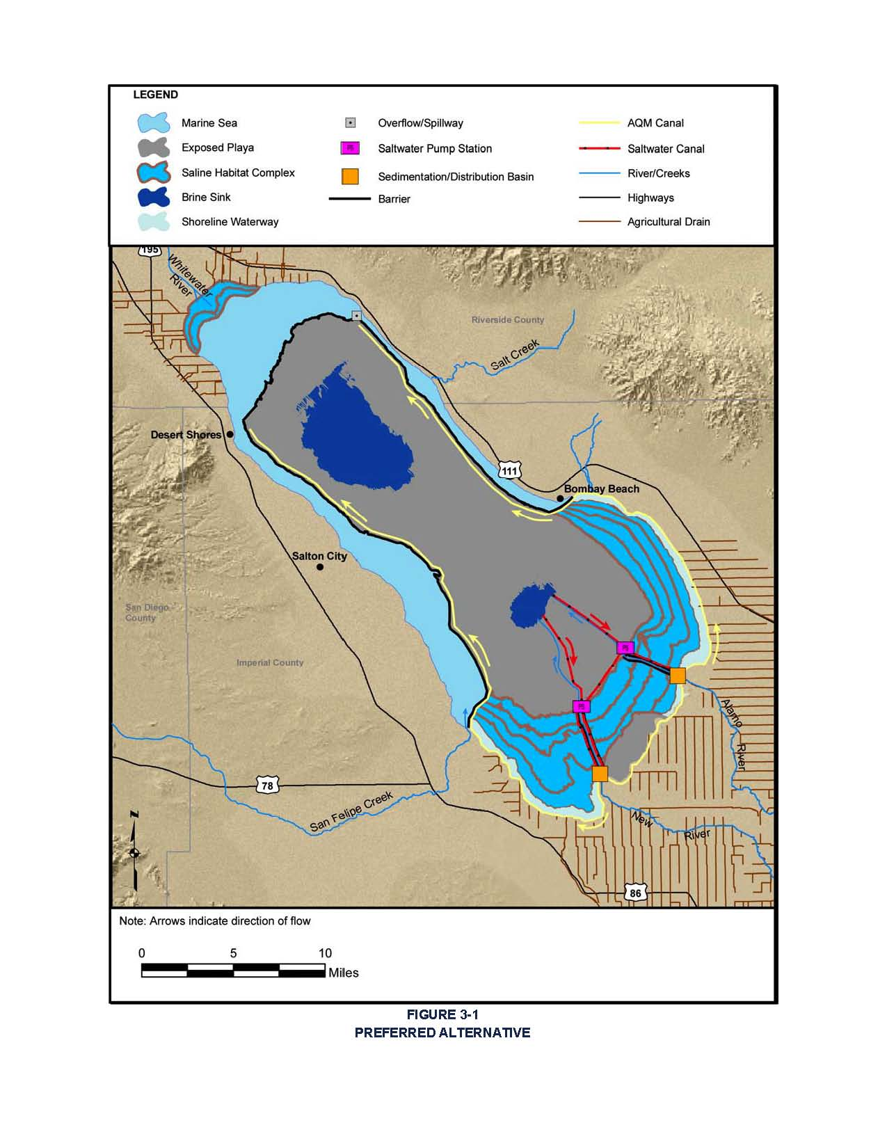 Future Looks Uncertain Costly For Salton Sea CPDR - Salton sea on us map